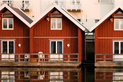 Hjärterö / Fläskö (grupperom/mindre møterom ved vannkanten) med liten uteplass mot havet